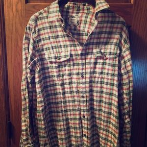 MENS LARGE OLD NAVY FLANNEL BUTTON DOWN